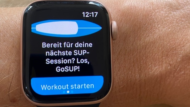 SUP tours can also be recorded with smartwatches.