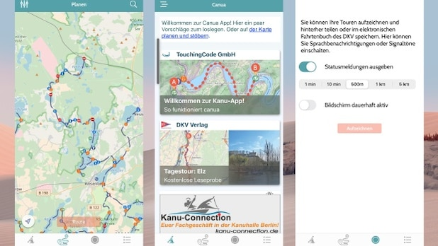 You can plan and record SUP tours with Canua.