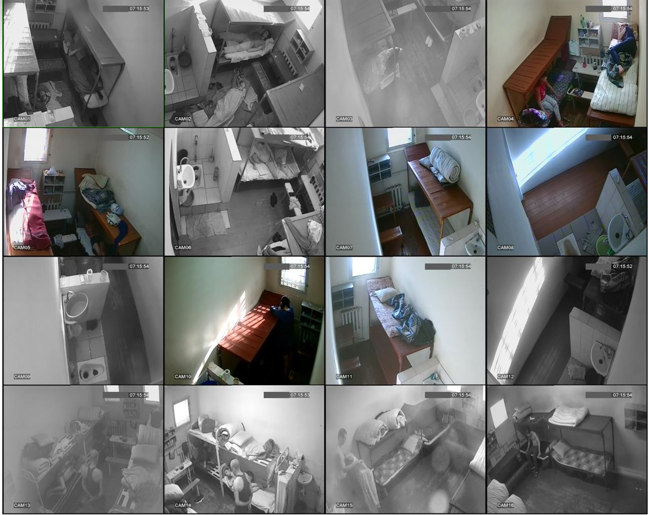 Pictures of a detention center